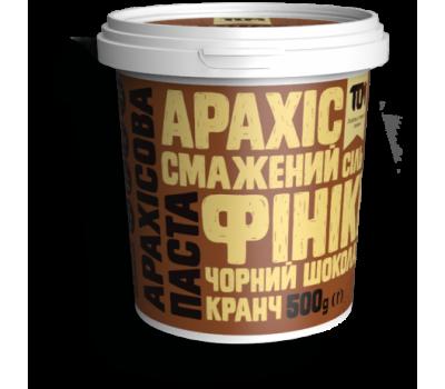 Арахісова паста ТОМ кранч з чорним шоколадом та фініками 500 г